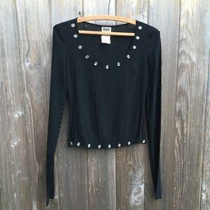 D&G Dolce Gabbana black elegant formal blouse top